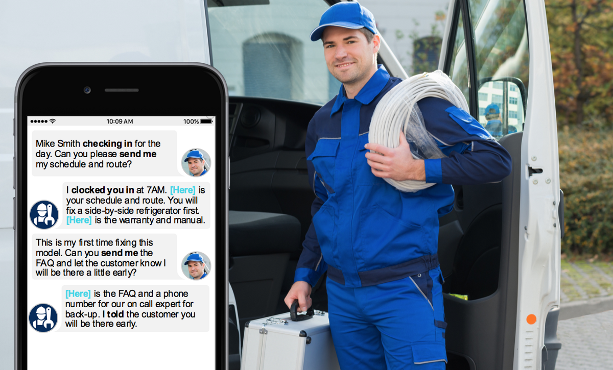Field employee chatbot use case